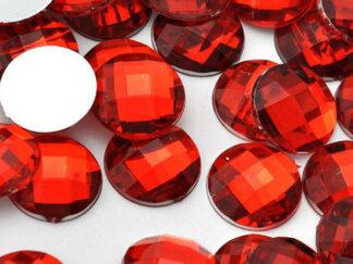Камінь клеєвий червоний, овальний, 13*18мм