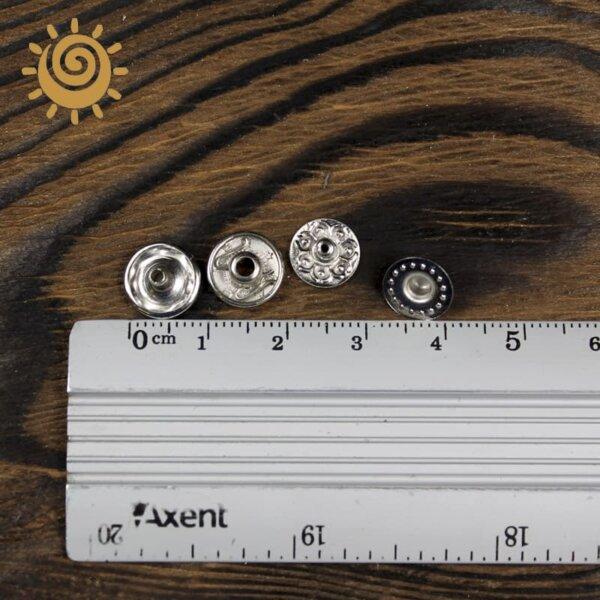 Металеві кнопки заклепки 10 мм, колір нікель 1