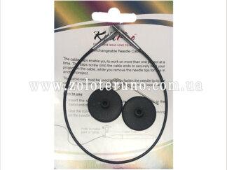Кабель чорний 350 мм для створення кругових спиць довжиною 40 см KnitPro