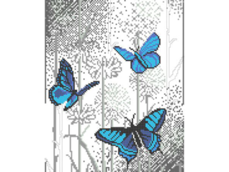 Схема для вишивки нитками ДМЦ 3009, Метелики