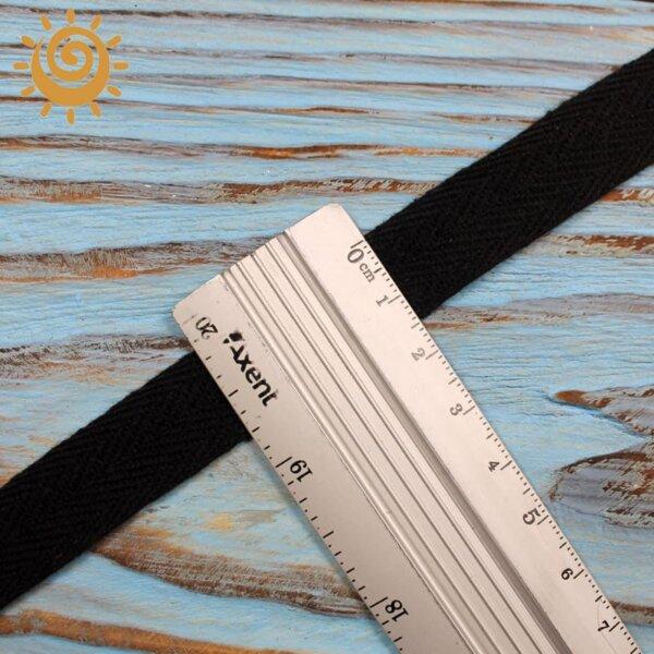 Кіперна стрічка 15 мм, колір чорний 1