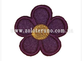 Нашивка на одяг(аплікація) Фіолетова квітка