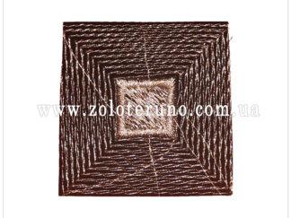 Нашивка на одяг(аплікація) Сірий квадрат
