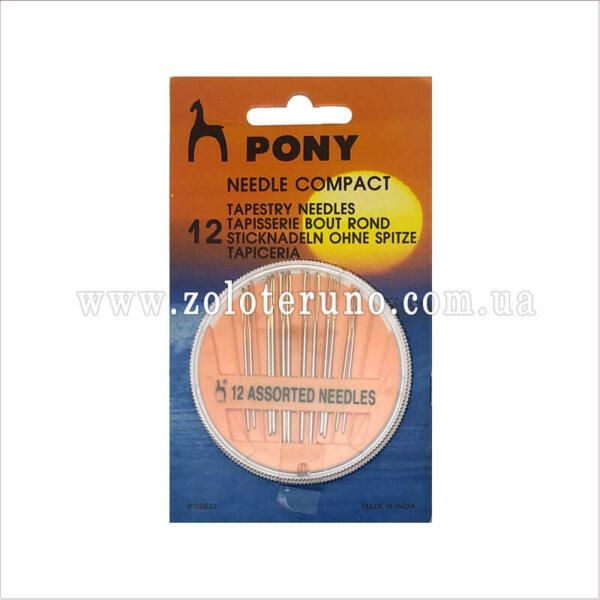 иглы для шитья вручную 12 шт., Pony