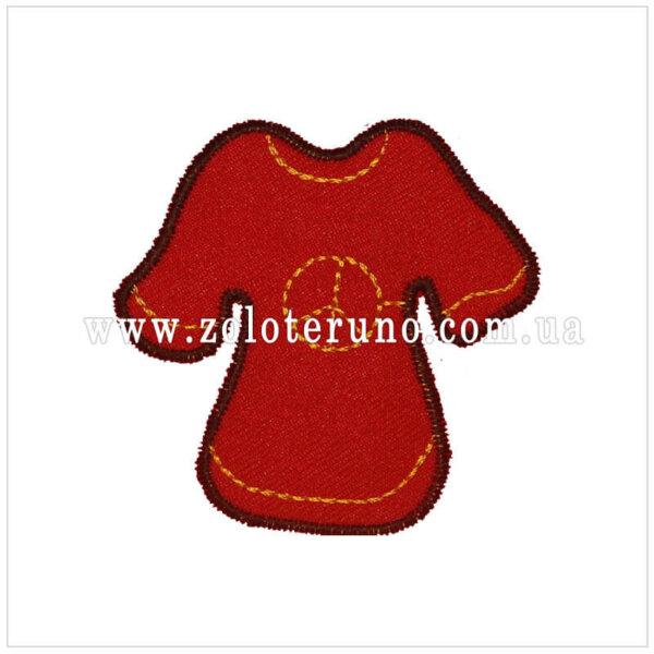 Нашивка на одяг(аплікація) Плаття червоне