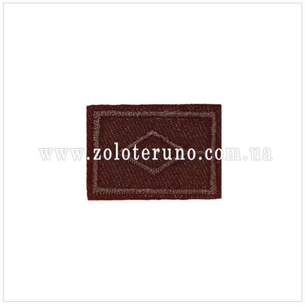 Нашивка на одяг(аплікація) Квадрат темно-черввоний