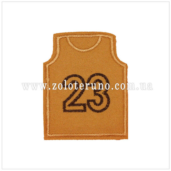 Нашивка на одяг(аплікація) Футболка сіра