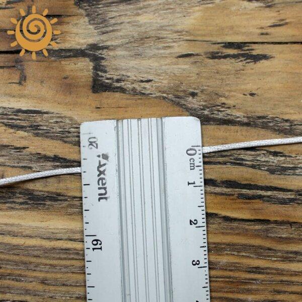 Атласний шнур, колір білий, 2 мм 2