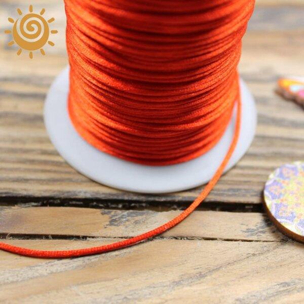 Атласний шнур 2 мм, колір червоний 1