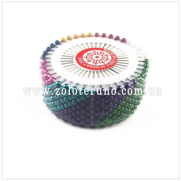 Кравецька булавка з пластмасовою круглою головкою, 40 шт, 35 мм