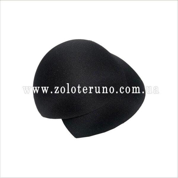 Поролонові вкладиші накладки в бюстгальтер ліфчик купальник 2шт. Колір чорний.