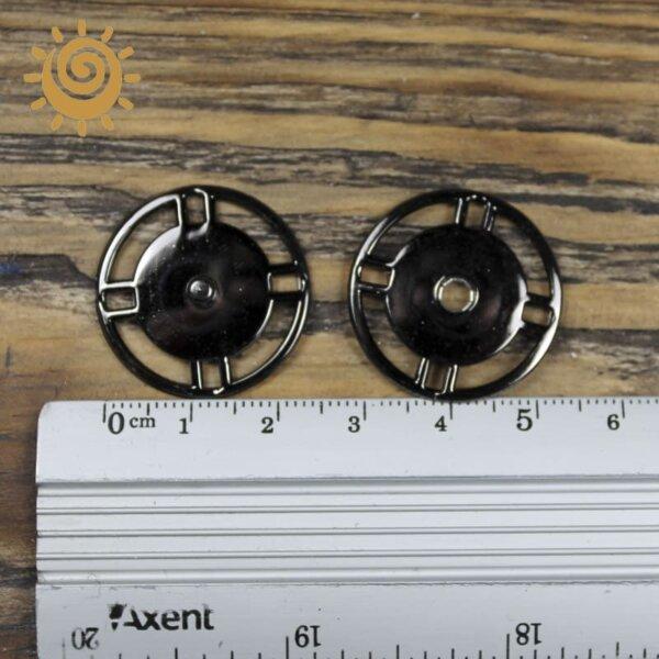 Пришивна кнопка кругла 25 мм, колір нікель 3 knopka krugla chorna 1