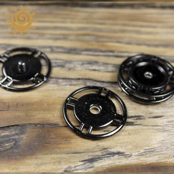 Пришивна кнопка кругла 25 мм, колір нікель 1 knopka krugla chorna