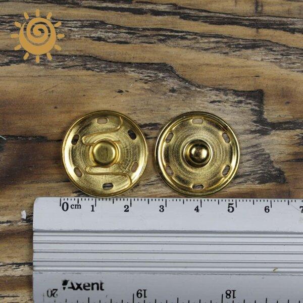 Кнопка пришивна металева 24 мм, колір золотий 1 knopka metaleva zolota 24mm