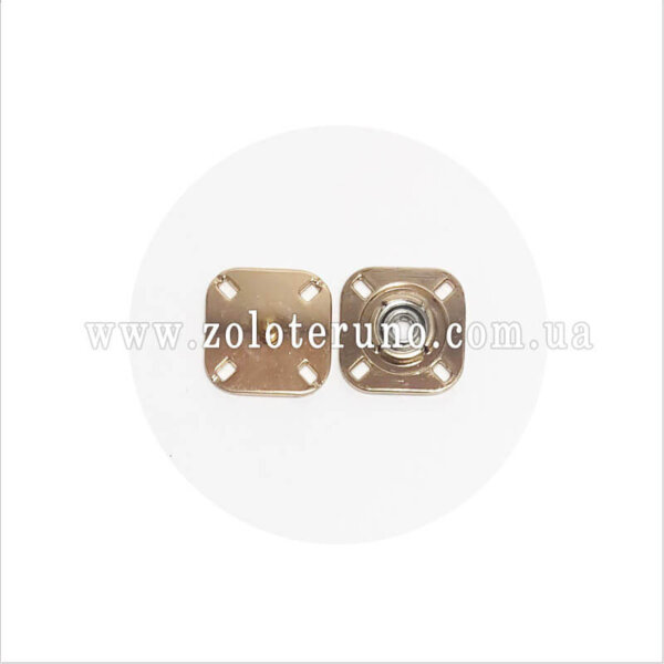 Пришивні кнопки ажурні, 23 мм, золото