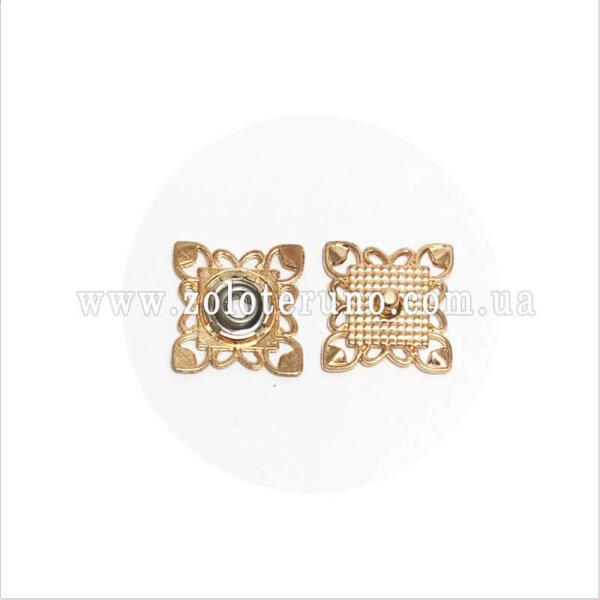 Пришивні кнопки ажурні, 25 мм, золото