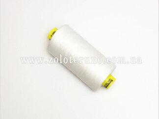 Нитка швейна Gutermann 120, 1000 м, 100% поліестр, колір білий