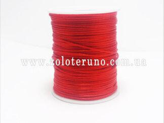 Атласний шнур, колір червоний, 2 мм