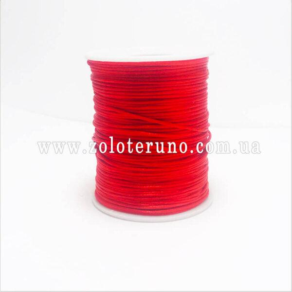 Атласный шнур, цвет красный, 2 мм