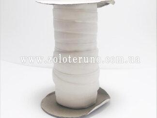 Бархатна стрічка, колір білий, 10 мм