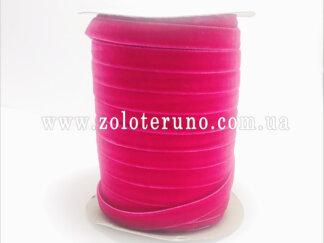 Бархатна стрічка, колір червоний, 10 мм