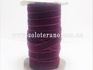 Бархатна стрічка, колір вишневий, 10 мм