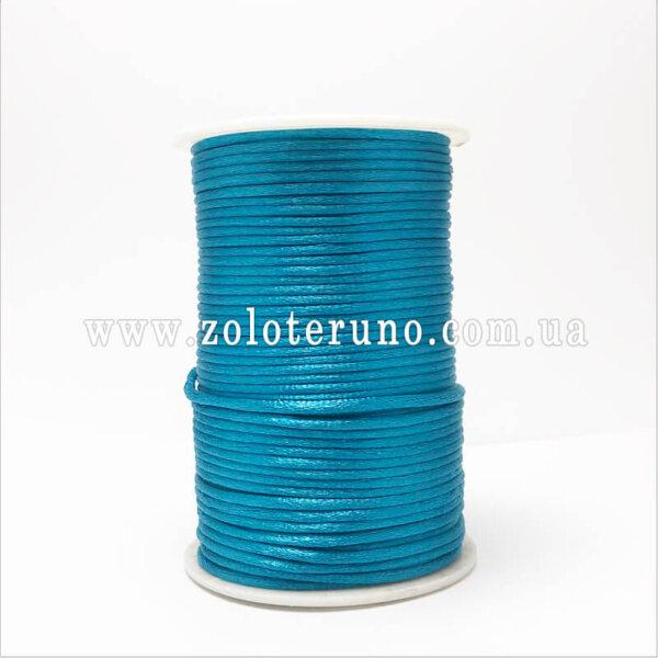 Корсетний шнур, колір бірюзовий, 3мм