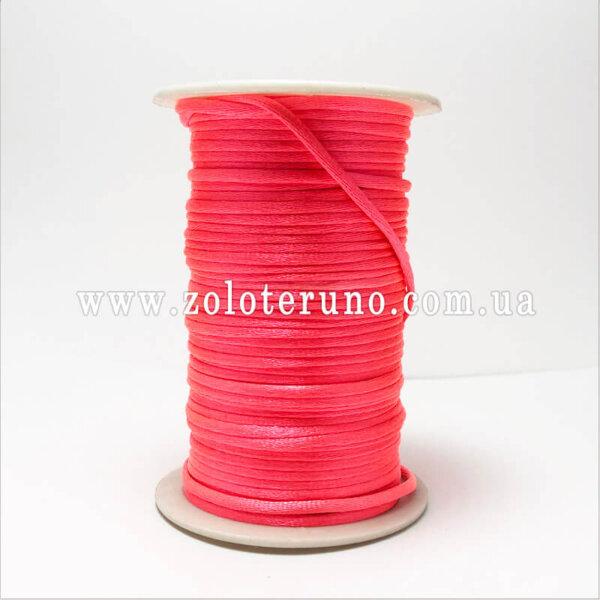 Корсетний шнур, колір червоний, 3мм
