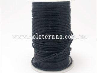 Корсетний шнур, колір чорний, 3мм