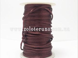 Корсетний шнур, колір коричневий, 3мм