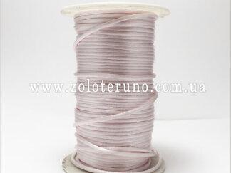 Корсетний шнур, колір світло-рожевий, 3мм
