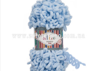 Пряжа: Puffy Fine Склад пряжі: 100% мікрополіестр. Колір голубий