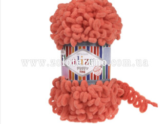 Пряжа: Puffy Fine Склад пряжі: 100% мікрополіестр. Колір гранатовий