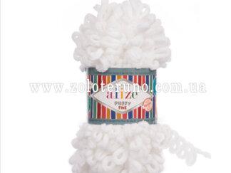 Alize puffy fine 55 білий