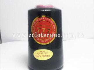 Нитка швейна 40/2, 4500 м, 100% поліестр, колір чорний