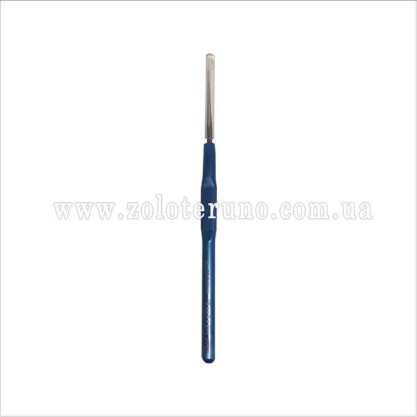 Гачок металевий односторонній з ручкою 12 см, 0,80 мм