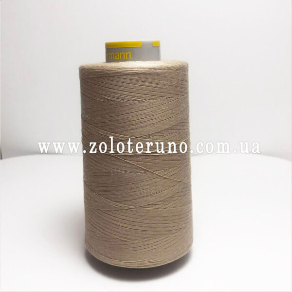 Нитка швейна Guterman 120, 5000 м, 100% поліестр, колір сірий