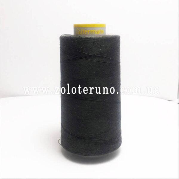 Нитка швейна Guterman 120, 5000 м, 100% поліестр, колір темно-зелений