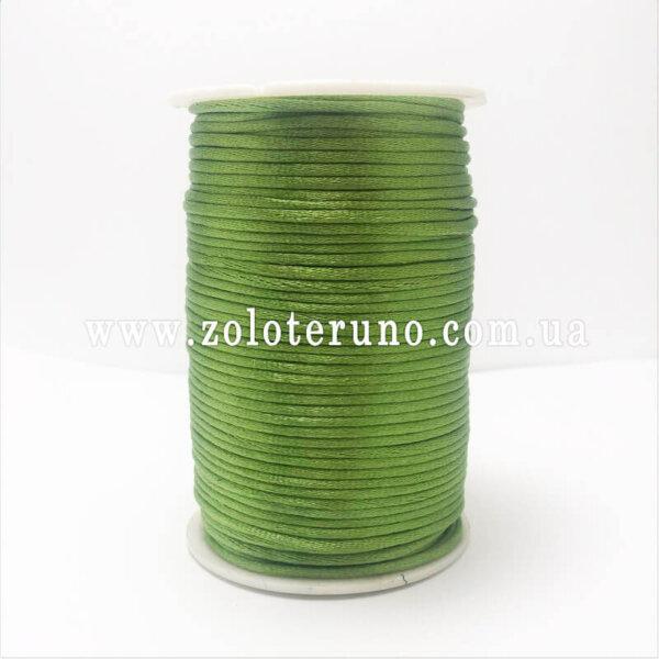 Корсетний шнур, колір зелений