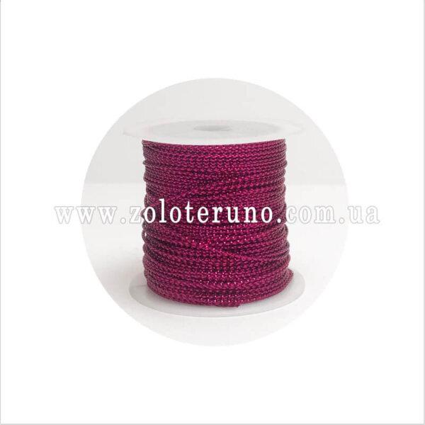 нитка декоративна з люрексом, 1.5 мм, колір червоний