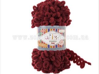 Пряжа: 107 Puffy Fine Склад пряжі: 100% мікрополіестр. Колір вишневий