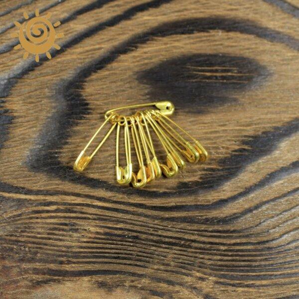 Англійська шпилька, 18 мм, колір золотий 1 17646