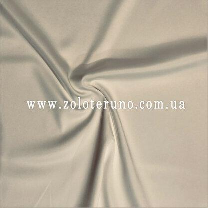 Тканина атлас котон молочний, ширина 150 см