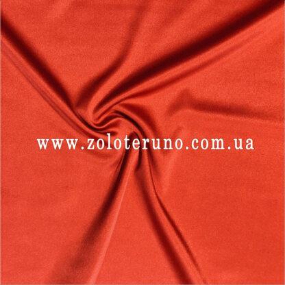 Тканина атлас котон червоний, ширина 150 см