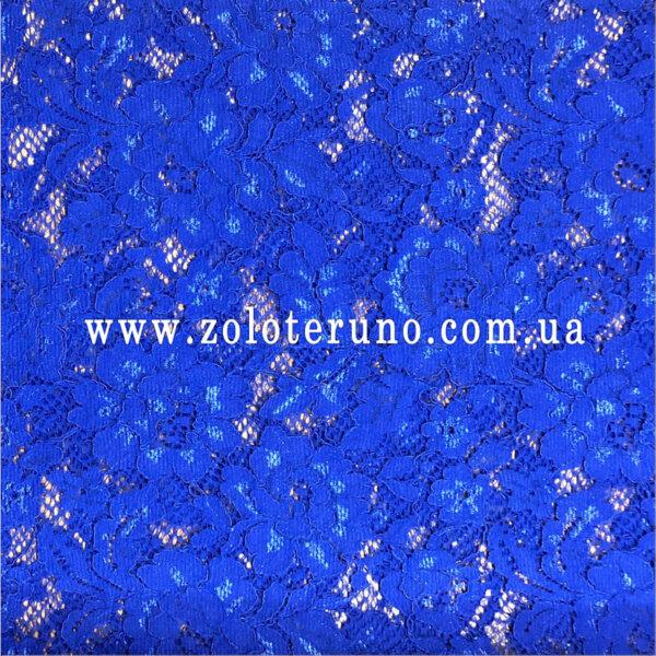 Гіпюр, колір синій, ширина 145 см