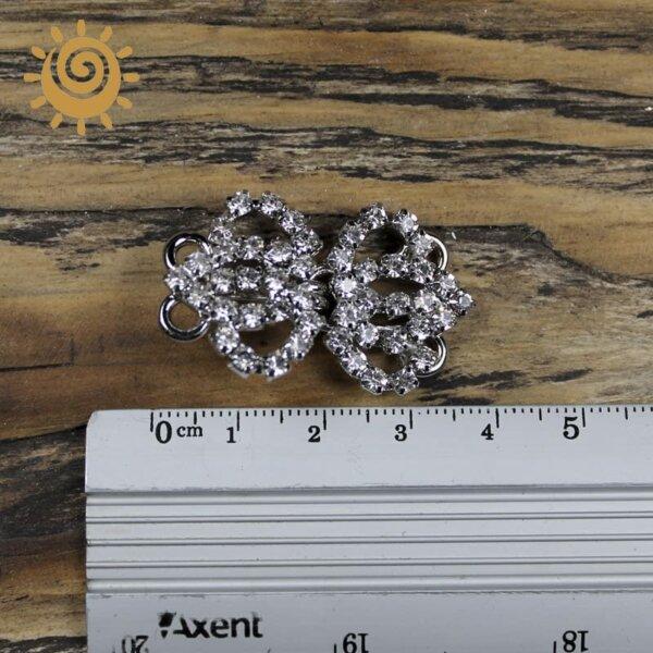 Гачок до одягу - Корона, колір срібний 1 korona sriblo