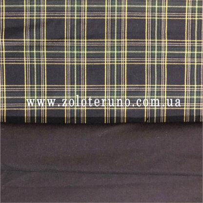 Костюмна тканина, колір клітка жовта, ширина 150 см