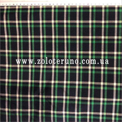 Костюмна тканина, колір клітка зелена, ширина 150 см