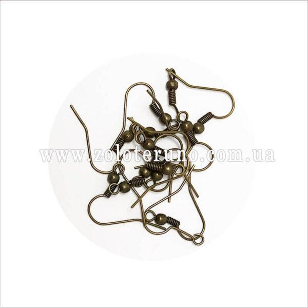 Ювелірні швензи для сережок, 20 мм, колір антик