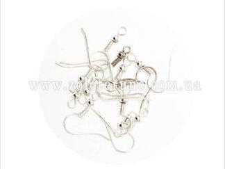 Ювелірні швензи для сережок, 20 мм, колір срібний